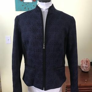 Tahari dark blue and black jacket size 12
